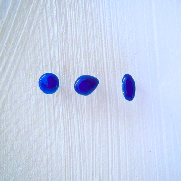 """ Candy ""  pierced earring - blue"