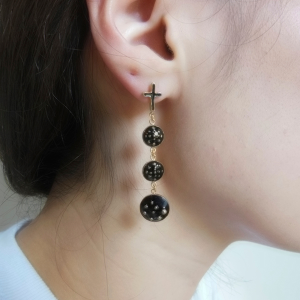 Pierced earring #3 black