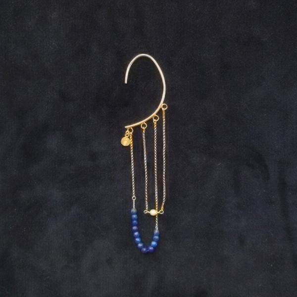 with lapis lazuli